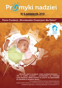 Pismo Fundacji ,,Wrocławskie Hospicjum dla Dzieci``