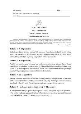 Złota Żaba - Matematyka - etap I - 2014/15
