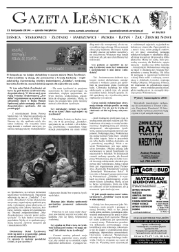 Gazeta Leśnicka, 21 listopada 2014