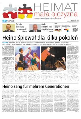 Heino śpiewał dla kilku pokoleń