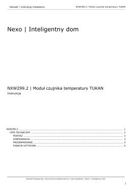 Instrukcja NXW299.2