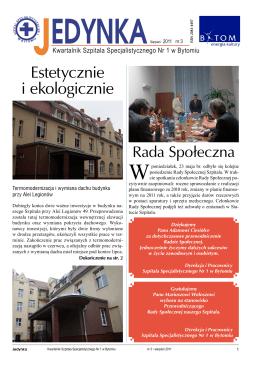 Sierpień - Szpital Specjalistyczny nr 1 w Bytomiu