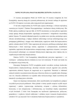 Wystąpienie Tomasz Siemoniak - Instytut Studiów Strategicznych