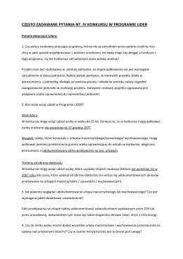 FAQ - 26.01.2013 r.