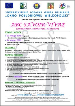 ABC SAVOIR-VIVRE