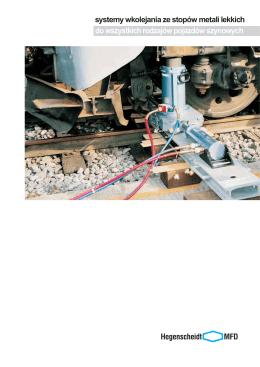 systemy wkolejania ze stopów metali lekkich do wszystkich