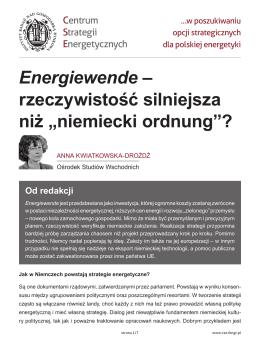 PDF / drukuj - Centrum Strategii Energetycznych