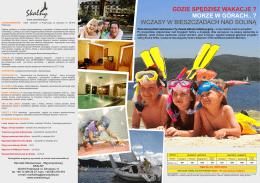 wakacje 2015.pdf - Hotel SPA Polańczyk Bieszczady