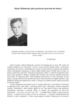 Ojciec Klimuszko jako prekursor powrotu do natury [pdf]