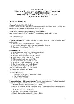 Sprawozdanie z działalności fundacji w 2013r.