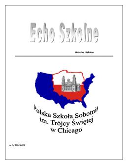 Echo Szkolne 2012-2013 nr1 - Polska Szkoła im. Trójcy Św.