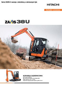 Seria ZAXIS-5 wersja z obrotnicą o skróconym tyle