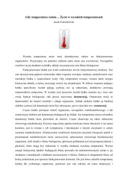 """""""Gdy temperatura rośnie… Życie w wysokich temperaturach"""" (PDF"""