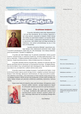 Gazetka grudzień 2013/14 - Gimnazjum nr 2 im. Janusza Korczaka