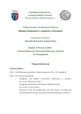 Międzynarodowa Konferencja Naukowa Badania
