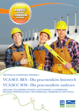 Szkolenia SCC BES - Business Assurance