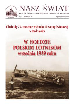 """""""NASZ ŚWIAT"""" – Nr 1 - 1 września 2014 r."""" (PDF – zobacz, ok. 0.2 MB)"""