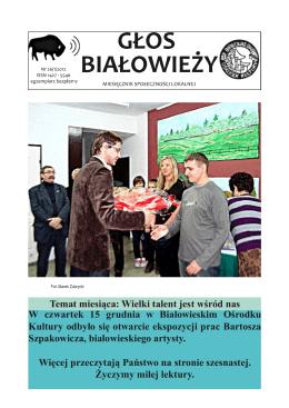 Głos Białowieży - Urząd Gminy Białowieża