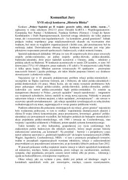 Komunikat Jury - Historia Bliska