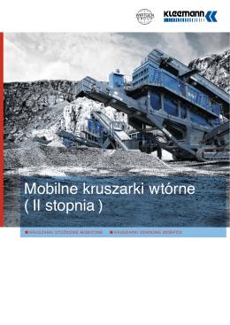 Mobilne kruszarki wtórne ( II stopnia )