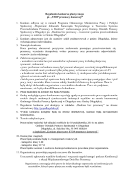 Regulamin - plik w postaci pdf