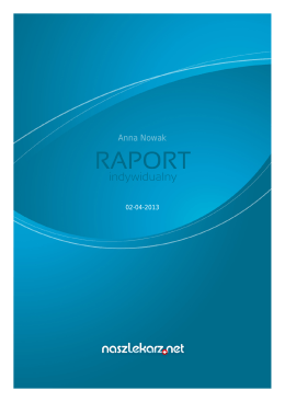 NaszLekarz: Raport indywidualny