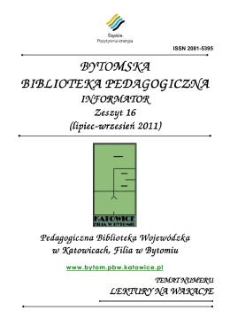 BYTOMSKA BIBLIOTEKA PEDAGOGICZNA BIBLIOTEKA