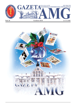 grudzień 2010 - Gazeta AMG - Gdański Uniwersytet Medyczny