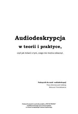 Podręcznik do audiodeskrypcji
