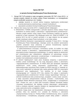 treść stanowiska - Towarzystwo Urbanistów Polskich