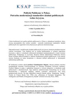Program konferencji - saksap.pl - Krajowa Szkoła Administracji