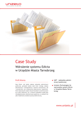 Case Study - Unizeto Technologies