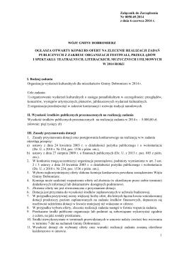 1 Załącznik do Zarządzenia Nr 0050.69.2014 z dnia 6 czerwca 2014