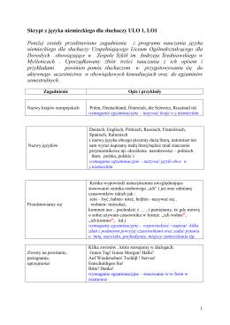 Skrypt z języka niemieckiego ULO1