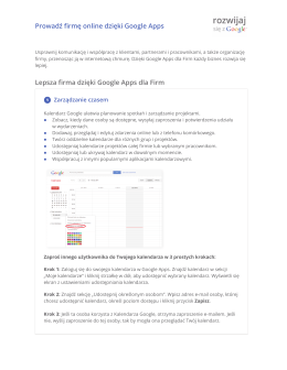 Prowadź firmę online dzięki Google Apps Lepsza firma