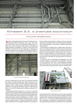 Klimawent S.A. w przemyśle stoczniowym