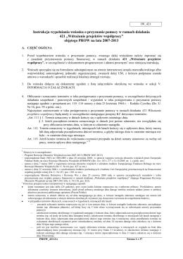 Instrukcja wypełniania wniosku o pomoc finansową w zakresie