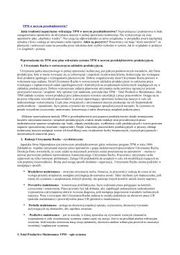 TPM w nowym przedsiębiorstwie? - PCP