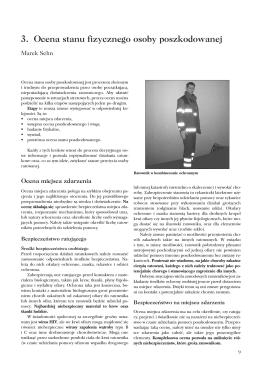 3. Ocena stanu fizycznego osoby poszkodowanej