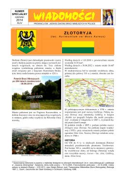 Pobierz Wiadomości - Parafia św. Jadwigi Śląskiej w Złotoryi