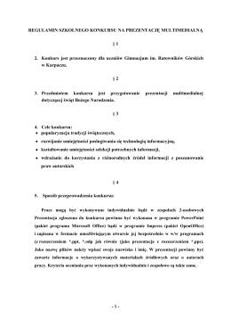 regulamin - Gimnazjum im. Ratowników Górskich w Karpaczu