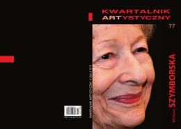 SZ YMBORSK A - Kwartalnik Artystyczny