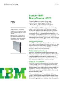Serwer IBM BladeCenter HS23