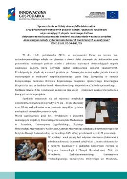 Sprawozdanie - Projekt innowacyjne metody wykorzystania