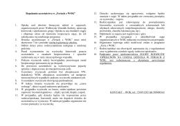 Regulamin uczestnictwa w Feriach z WOK i karta zapisu