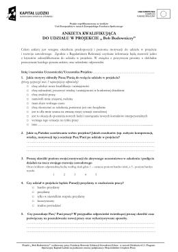 ankieta - Fundacja Rozwoju Edukacji Zawodowej EDUCO