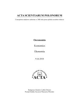 Acta 9(4)2010.indb - ACTA SCIENTIARUM POLONORUM