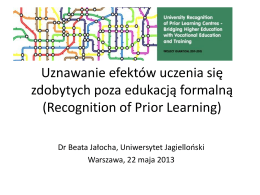 RPL_konferencja_FPAKE). - University Recognition of Prior