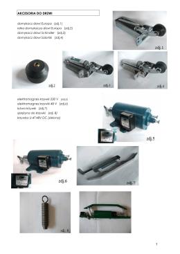 katalog akcesoriów do drzwi