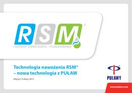 Technologia nawożenia RSM
